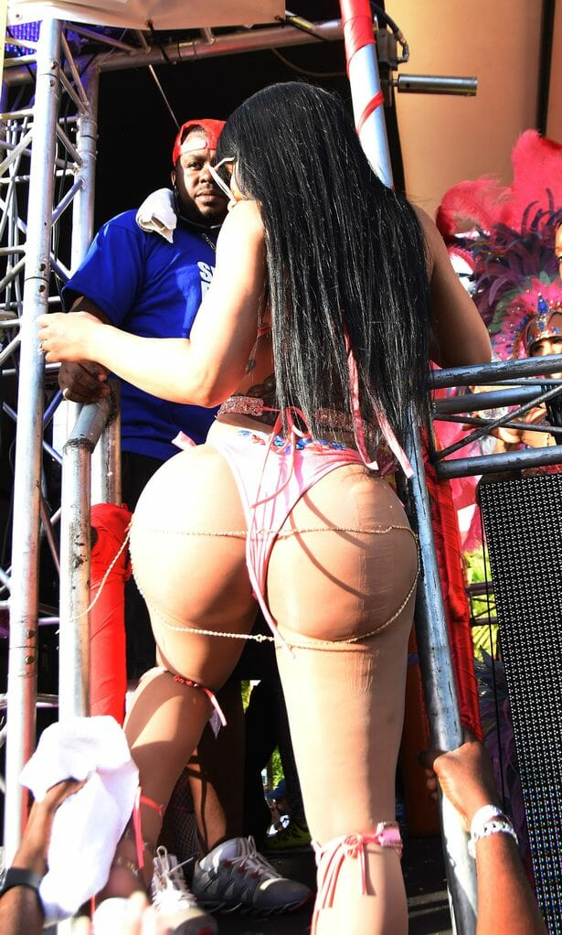 Blac Chyna ass at Carnival