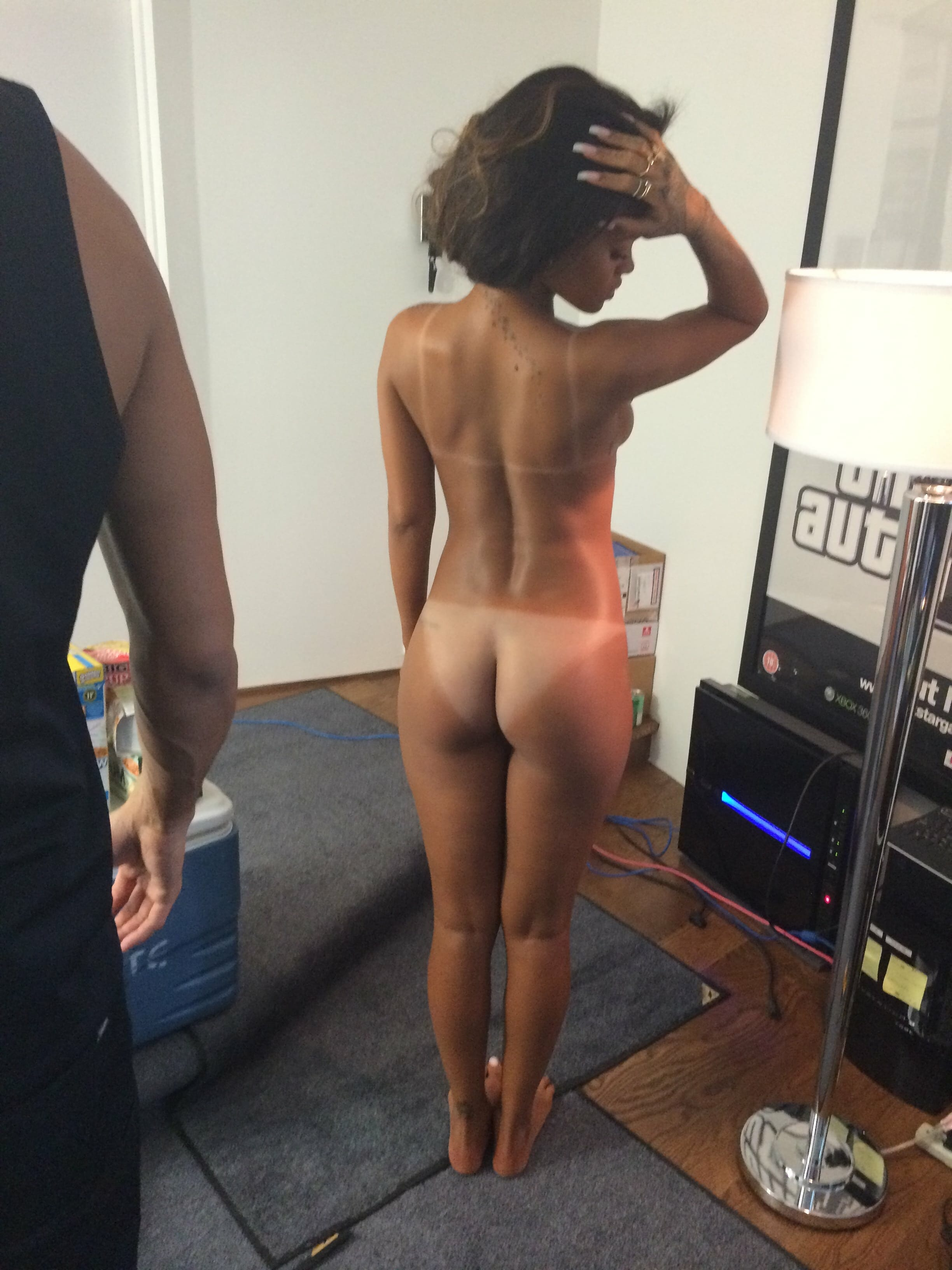 On rihanna balcony nude