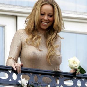 Mariah Carey hard nips