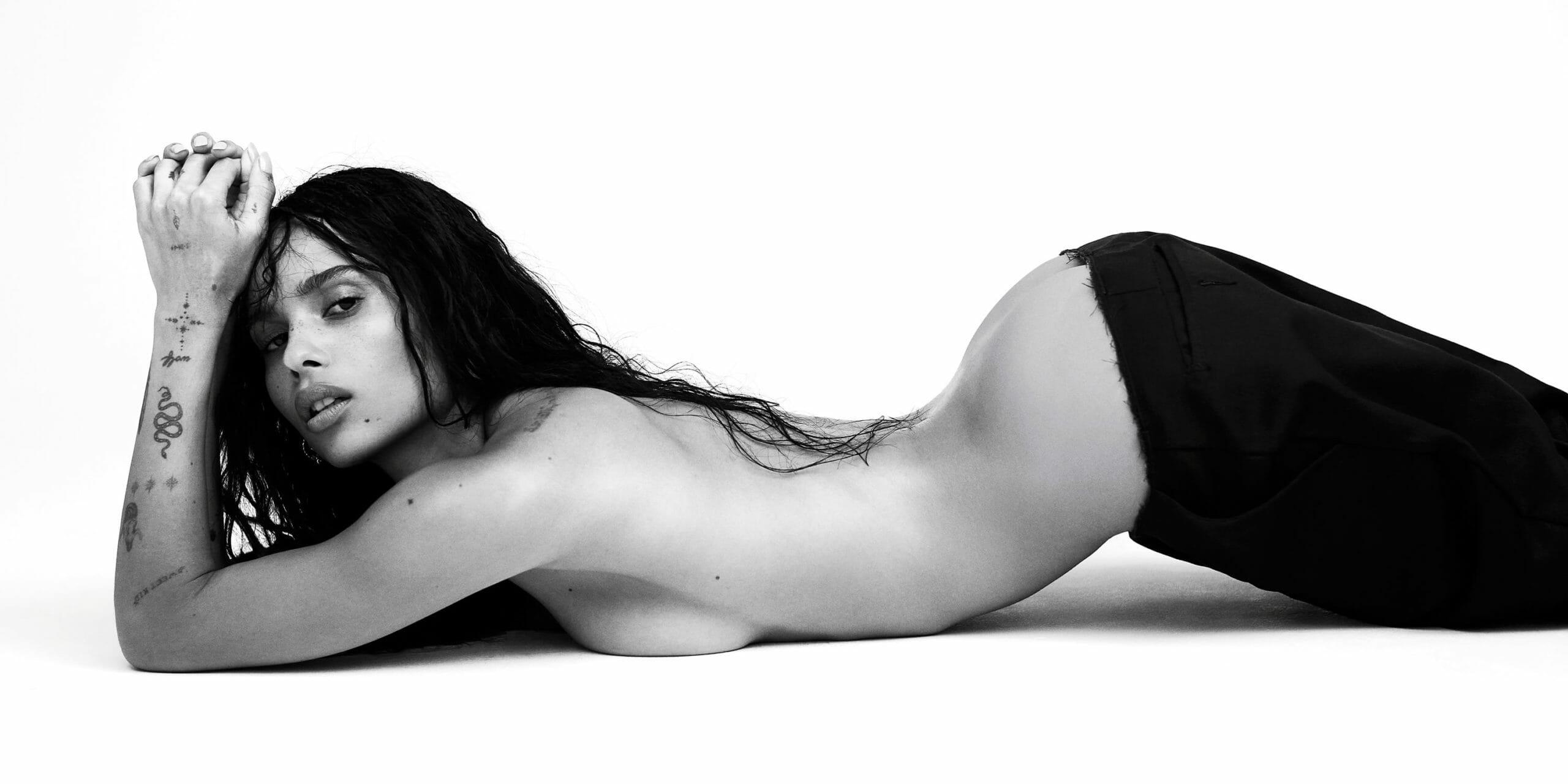 Zoe Kravitz topless modeling photo